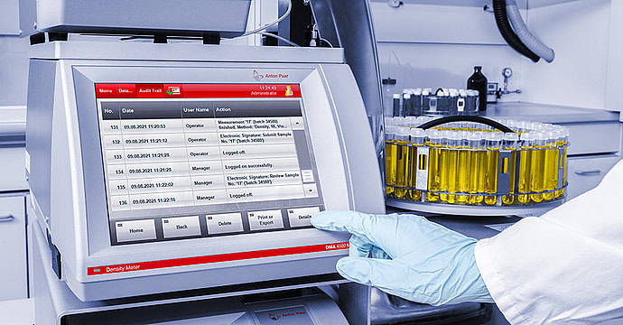 Complete traceability, advanced instrument control, and data handling