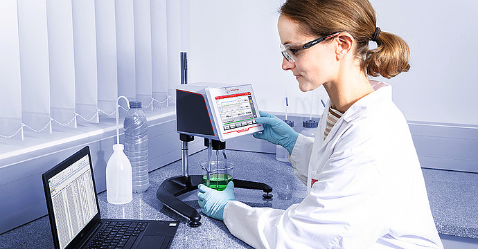 Viscosity data collection software