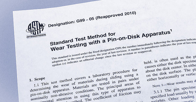Be compliant with the standards – ASTM G99, ASTM G133, and DIN 50324