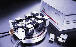 Tensile Stage: TS 600 - sample stage for in-situ X-ray diffraction studies of stress/strain phenomena in fibers, foils and thin films