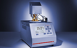 With its extended low temperature range the automatic Abel closed cup tester can measure flash points or detect flammable vapors by the flash/no flash method