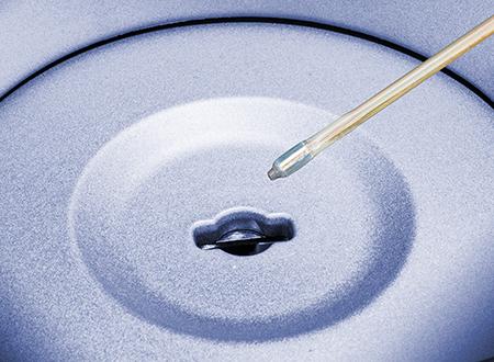 Il termometro con rubino è composto da un cristallo di rubino eccitato periodicamente da una luce lampeggiante. Il tempo di decadimento della luminescenza dipende dalla temperatura e fornisce indicazioni sulla temperatura intorno al cristallo.