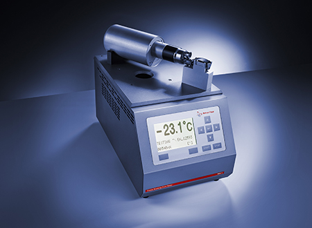 Fraass Breaking Point Tester BPA 5 with bitumen coated plaque.