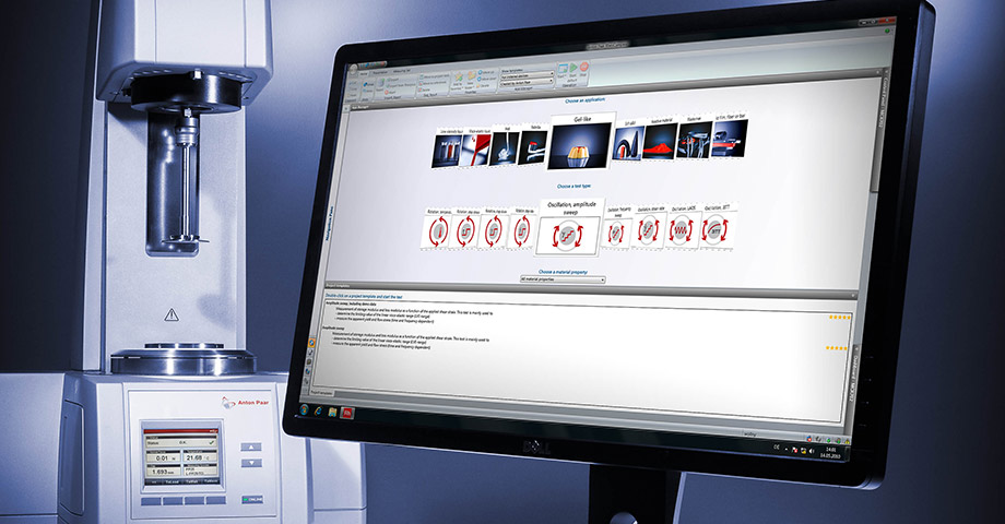 Controllability: with the most innovative rheometer software