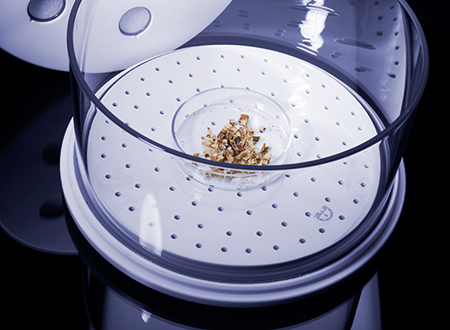 Rotor 1DRY is the ideal accessory for efficient handling of samples prior to digestion. Microwave-assisted drying takes a quarter of the time required by conventional methods, without carbonization or contamination of samples.