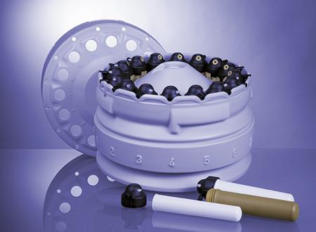 Le rotor de digestion acide 16MF100 avec 16 flacons haute pression est conçu pour un débit élevé d'échantillon et une manipulation efficace.