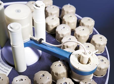 Accessoire détecteur de pression/température M50 pour le contrôle précis des réactions dans le flacon de référence de votre rotor 48MF50.