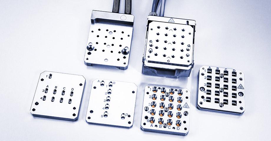Mehrere Probenmessungen für flüssige, feste, Gel-/pastöse Proben mit speziellen Probenhaltern