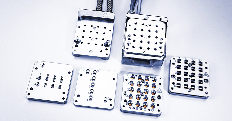 Multiple sample measurement for liquid, solid, gel/paste-like samples with dedicated sample holders